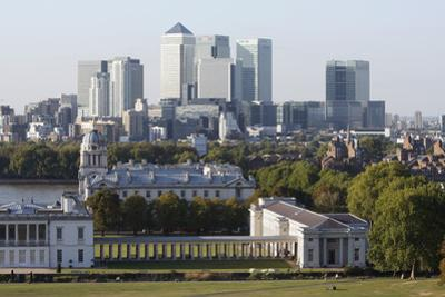 Canary Wharf from Greenwich Park, London, 2009 by Peter Thompson
