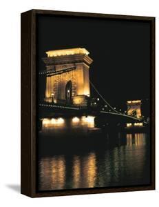 Chain Bridge (At Night), Budapest, Hungary by Peter Thompson