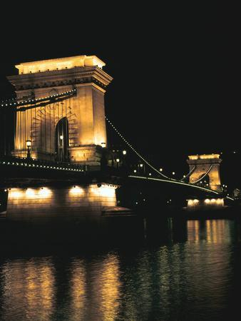 Chain Bridge (At Night), Budapest, Hungary