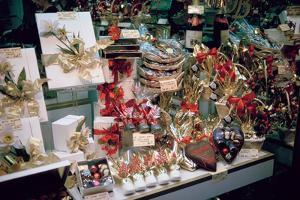 Christmas Presents in a Shop Window, Paris, France by Peter Thompson