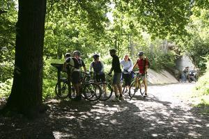 Cyclists, Petts Wood, Kent, 2005 by Peter Thompson