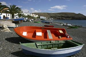 Fishing Boats, La Lajita, Fuerteventura, Canary Islands by Peter Thompson