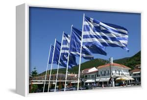 Flags on the Quayside, Sami, Kefalonia, Greece by Peter Thompson