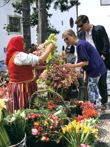 Flower seller, Funchal, Madeira, Portugal by Peter Thompson
