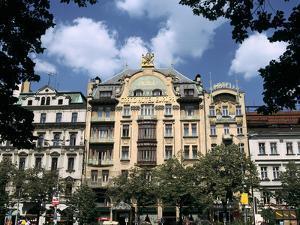 Grand Hotel, Wenceslas Square, Prague, Czech Republic by Peter Thompson