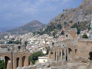 Greek Theatre and Town, Taormina, Sicily, Italy by Peter Thompson