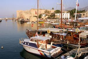 Harbour and Castle, Kyrenia (Girne), North Cyprus by Peter Thompson
