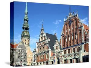 House of Blackheads and St Peters Church, Riga, Latvia by Peter Thompson