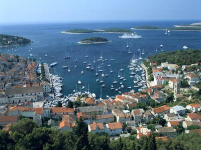 Hvar Town and Harbour, Croatia by Peter Thompson