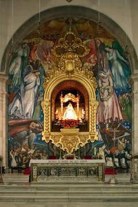 Inside Church, Candelaria, Tenerife, 2007 by Peter Thompson