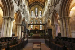 Interior of Hexham Abbey, Northumberland, 2010 by Peter Thompson