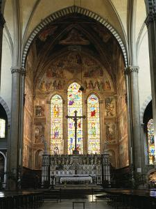 Interior of the Church of Santa Maria Novella, Florence, Italy by Peter Thompson