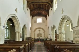 Interior, Priory Church of St Mary, Deerhurst, Gloucestershire, 2010 by Peter Thompson