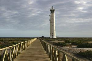 Lighthouse, Morro Del Jable, Fuerteventura, Canary Islands by Peter Thompson