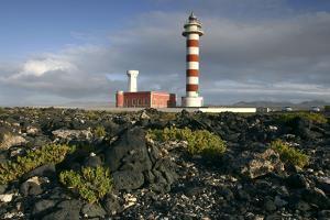 Lighthouse, Punta De La Ballena, Fuerteventura, Canary Islands by Peter Thompson