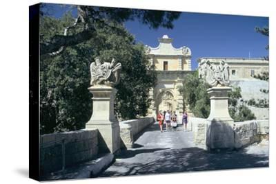 Main Gate, Mdina, Malta. Erected in 1724 by Grand Master De Vilhena