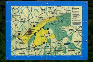 Map of Longridge Fell, Lancashire by Peter Thompson