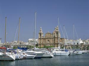Marina and Church, Malta by Peter Thompson
