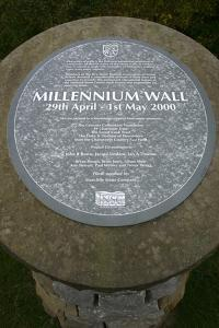 Millennium Wall, the National Stone Centre, Derbyshire by Peter Thompson