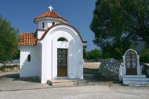 Monastery of Agrilion Church, Kefalonia, Greece by Peter Thompson