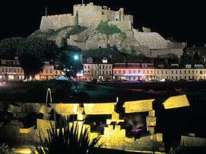 Mont Orgueil Castle at Night, Gorey, Jersey, Channel Islands by Peter Thompson