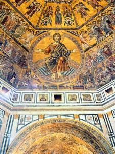 Mosaic Ceiling, Baptistry of St John, Florence, Italy by Peter Thompson