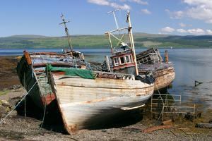 Old Fishing Boats, Near Salen, Mull, Argyll and Bute, Scotland by Peter Thompson