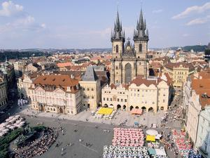 Old Town Square and Tyn Church, Prague, Czech Rebublic by Peter Thompson