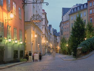 Osterlanggatan, Gamla Stan, Stockholm, Sweden by Peter Thompson