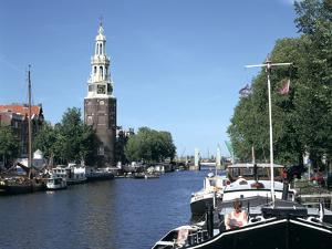 Oude Schans and Montelbaanstoren, Amsterdam, Netherlands by Peter Thompson