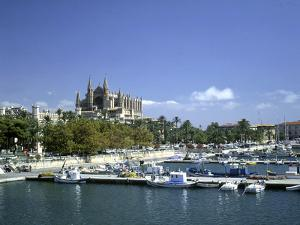 Palma Cathedral and Harbour, Majorca, Spain by Peter Thompson