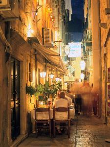 Restaurant, Dubrovnik, Croatia by Peter Thompson
