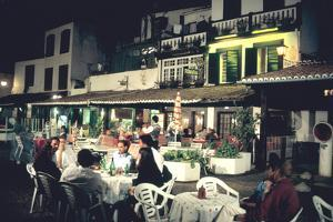 Restaurant in the Old Town, Funchal, Madeira, Portugal by Peter Thompson
