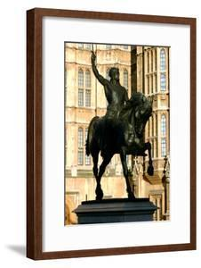 Richard the Lionheart Statue, Houses of Parliament, Westminster, London England by Peter Thompson