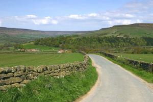 Road in Farndale, North York Moors, North Yorkshire by Peter Thompson
