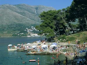 Rocky Beach, Cavtat, Croatia by Peter Thompson
