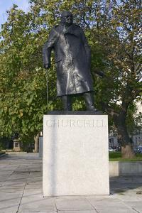 Sir Winston Churchill Memorial Statue, Parliament Square, London, 2005 by Peter Thompson