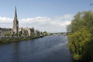 St Matthews Church and Old Bridge, Perth, Perth and Kinross, Scotland, 2010 by Peter Thompson