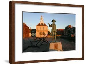 Statue of Captain Vancouver at Dusk on the Purfleet Quay, Kings Lynn, Norfolk by Peter Thompson