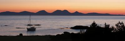 Sunset over Jura Seen from Kintyre, Argyll and Bute, Scotland by Peter Thompson