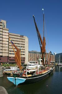 Thames Barge in St Katherines Dock, London by Peter Thompson