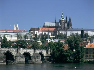 The Charles Bridge, the Castle and St Vitus Cathedral, Prague, Czech Republic by Peter Thompson