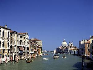 The Grand Canal and San Salute from Accademia Bridge, Venice, Italy by Peter Thompson