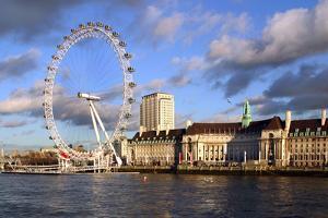 The London Eye, London by Peter Thompson
