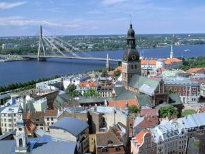 The View from St Peters Spire, Riga, Latvia by Peter Thompson