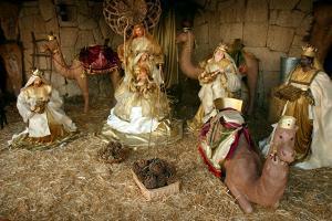 Three Kings, Nativity Scene, Los Cristianos, Tenerife, Canary Islands, 2007 by Peter Thompson
