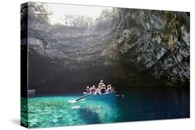 Tourist Boat on Melissani Lake, Kefalonia, Greece
