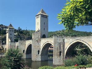 Valentre Bridge, Cahors, Lot, France by Peter Thompson