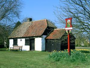 Village Sign and Smithy, Thriplow, Cambridgeshire by Peter Thompson