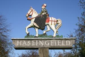 Village Sign, Haslingfield, Cambridgeshire by Peter Thompson
